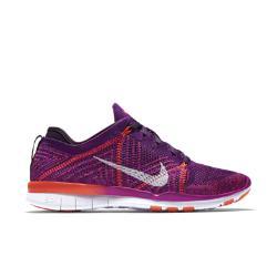 Женские кроссовки для тренинга  Free TR 5 Flyknit Nike. Цвет: пурпурный