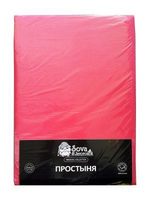 Простыня 2 сп. Sova and Javoronok. Цвет: розовый