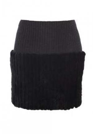 Меховая юбка BELLINI. Цвет: черный