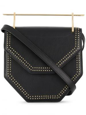 M004 Amorfa studded shoulder bag M2malletier. Цвет: чёрный