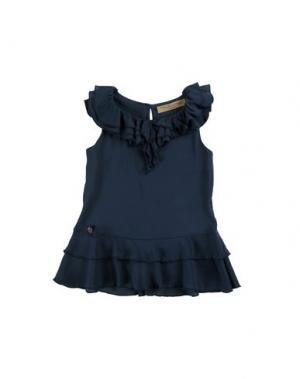 Блузка MANILA GRACE DENIM. Цвет: темно-синий