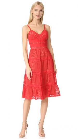 Платье Irina Catherine Deane. Цвет: красный/миндальный