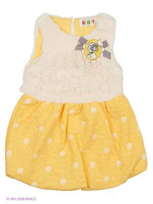 Сарафан утеплённый Kidly. Цвет: желтый