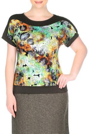 Блуза СТИКО. Цвет: мультиколор