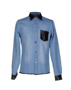 Джинсовая рубашка LES ÉCLAIRES. Цвет: синий