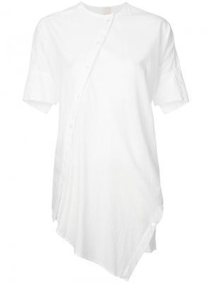 Асимметричная рубашка  Forme Dexpression D'expression. Цвет: белый