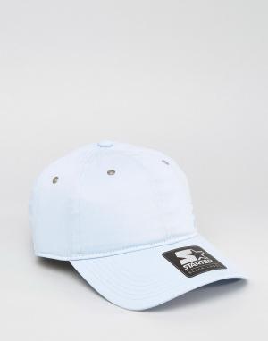 Starter Голубая бейсболка с черным логотипом. Цвет: синий