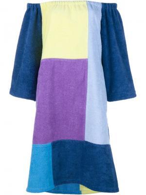 Платье в стиле пэчворк Lisa Marie Fernandez. Цвет: многоцветный