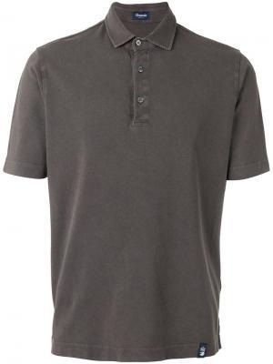 Классическая футболка-поло Drumohr. Цвет: коричневый