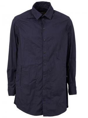 Рубашка свободного кроя Uma Wang. Цвет: синий