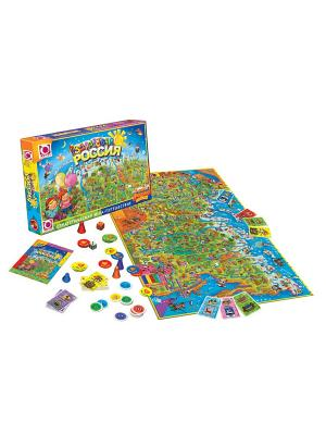 Настольная игра: Фан Гейм ТК Здравствуй, Россия! FunGame. Цвет: зеленый, голубой, оранжевый