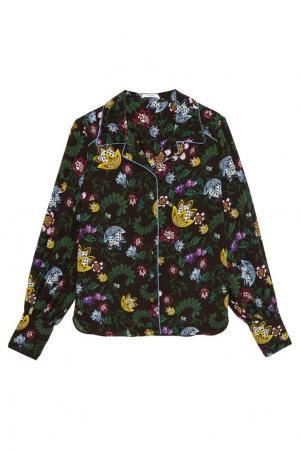 Шелковая блузка с цветочным принтом Fae Erdem. Цвет: multicolor