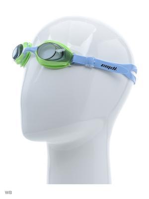 Очки для плавания EMDI. Цвет: зеленый, фуксия