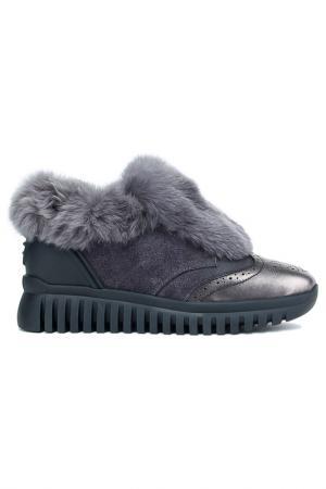 Ботинки NURIA. Цвет: никель черный