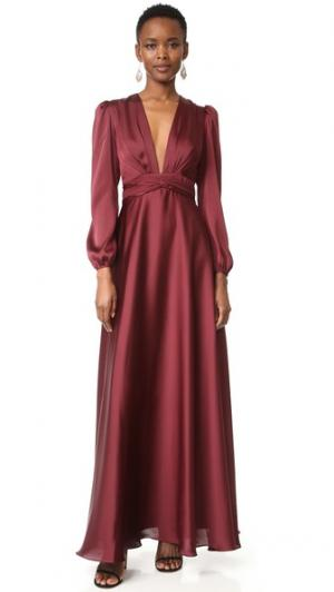 Вечернее платье с V-образным вырезом Jill Stuart. Цвет: темно-красный
