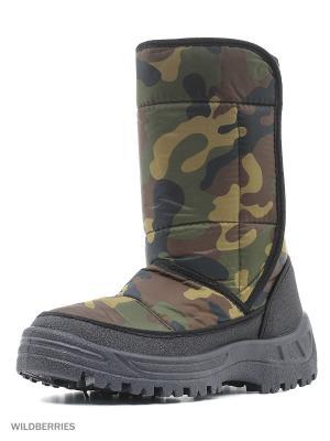 Дутики ШК обувь. Цвет: хаки, серый, черный