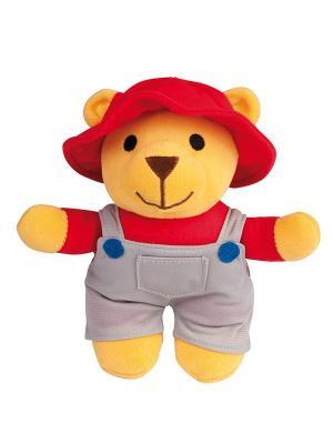 Игрушка мягкая музыкальная - мишка, 0+ форма: мальчик Canpol babies. Цвет: серый, красный, светло-желтый