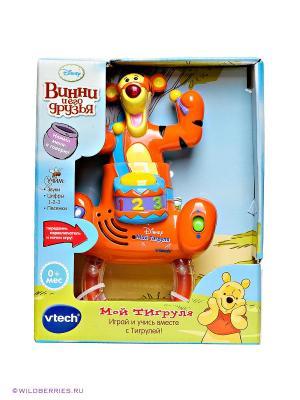 Игрушка-погремушка Мой Тигруля Vtech. Цвет: оранжевый (осн.), голубой