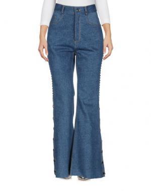 Джинсовые брюки YOHANIX. Цвет: синий