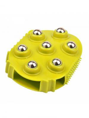 Массажер механический RUGES. Цвет: желтый