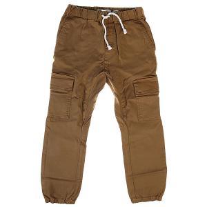 Штаны прямые детские  Drop Crotch Dull Gold Quiksilver. Цвет: коричневый