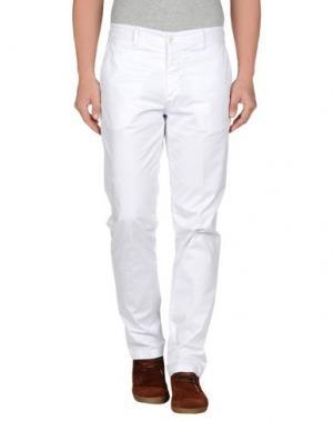 Повседневные брюки MASSIMO BRUNELLI. Цвет: белый