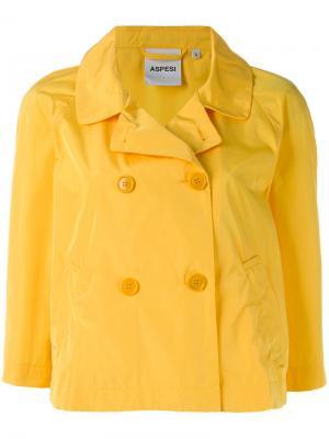 Двубортный пиджак Aspesi. Цвет: жёлтый и оранжевый
