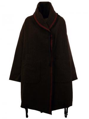 Свободное пальто Uma Wang. Цвет: коричневый
