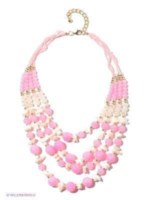Колье Infiniti. Цвет: розовый, золотистый, белый