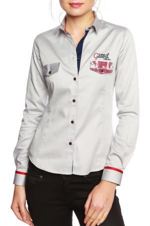 Рубашка GAZOIL. Цвет: gray