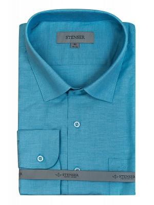 Сорочка STENSER. Цвет: бирюзовый