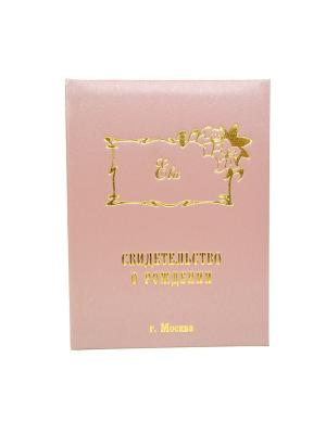 Именная обложка для свидетельства о рождении Ева г.Москва Dream Service. Цвет: розовый
