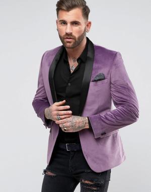 RUDIE Бархатный пиджак с шалевым воротником. Цвет: розовый