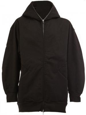 Zipped neck hooded jacket The Soloist. Цвет: чёрный