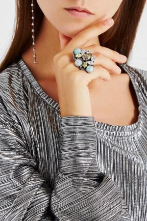 Кольцо с камнями Anton Heunis. Цвет: multicolor