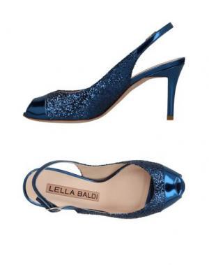 Сандалии LELLA BALDI. Цвет: темно-синий