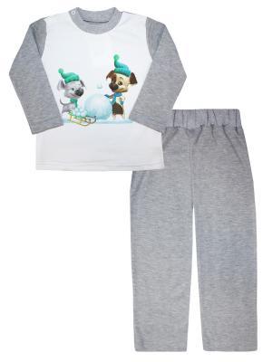 Пижама Белка и Стрелка. Озорная семейка КОТМАРКОТ. Цвет: серый, белый