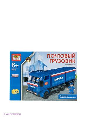Конструктор Почтовый грузовик Город мастеров. Цвет: синий