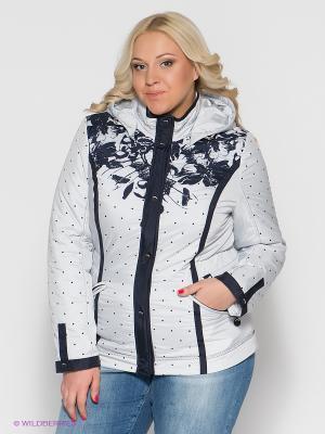 Куртка VIZANI. Цвет: светло-серый, темно-синий