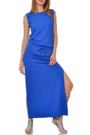 Платье Ki6 collection. Цвет: синий