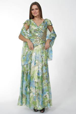 Платье Lia Mara. Цвет: зеленый