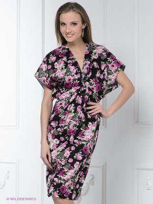 Платье Levall. Цвет: фуксия, черный