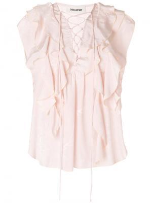 Топ Time Lace Jac Zadig & Voltaire. Цвет: розовый и фиолетовый