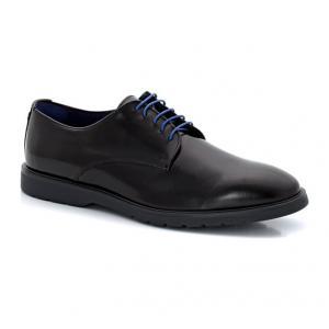 Ботинки-дерби из кожи со шнуровкой AZZARO. Цвет: черный