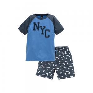 Пижама, 100% хлопка ELLOS. Цвет: синий