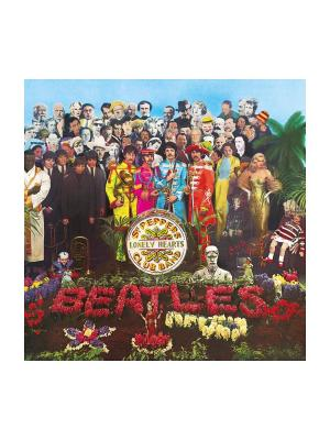 Clementoni. The Beatles. Sgt. Peppers Lonely Hearts Club Band. Пазл в коробке. Clementoni. Цвет: зеленый, красный, синий