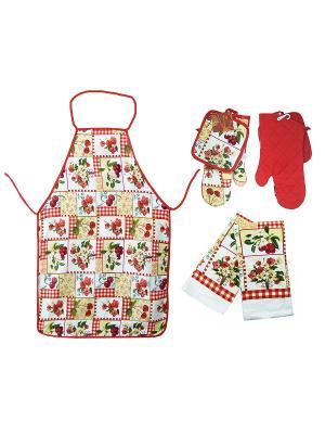 Кухонный набор ZLATA KORUNKA. Цвет: красный