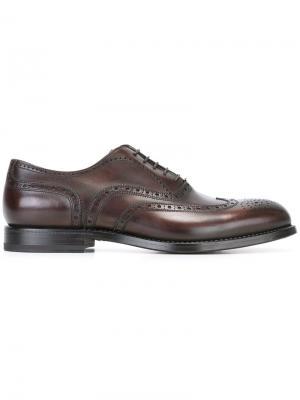 Туфли броги W.Gibbs. Цвет: коричневый
