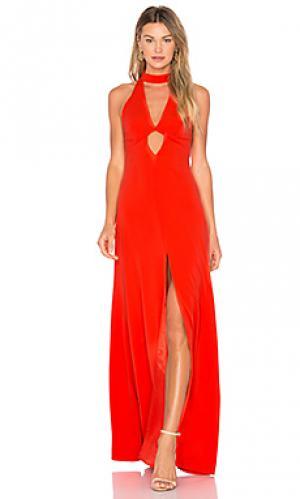 Вечернее платье с высоким воротом JILL STUART. Цвет: оранжевый