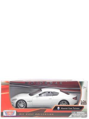 Машинка коллекционная Maserati Gran Turismo в масштабе 1к24 Motormax. Цвет: белый